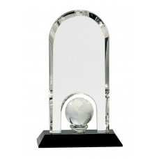 CRY318 Crystal Globe Dome on Black Base